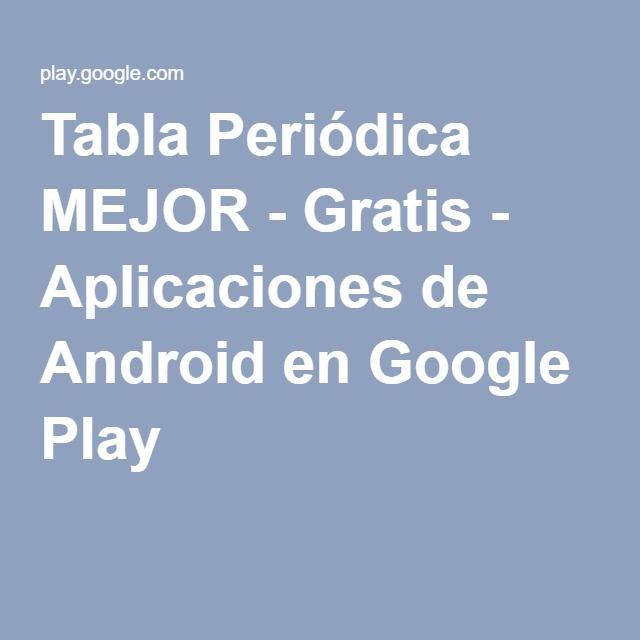 Tabla peridica mejor gratis aplicaciones de android en google tabla peridica mejor gratis aplicaciones de android en google play urtaz Image collections
