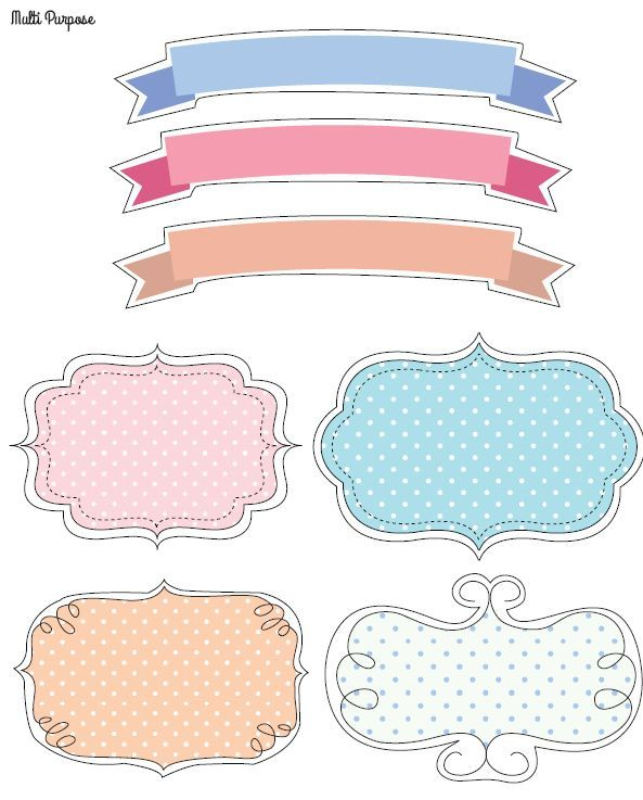 free printable doodle tags and labels Идеи для дома pinterest