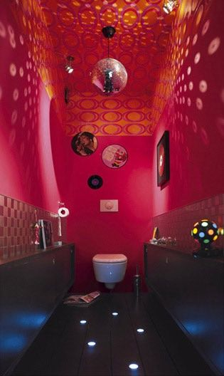 Deco toilette ambiance disco to do hacks pinterest deco design and discos - Idees deco toilettes ...