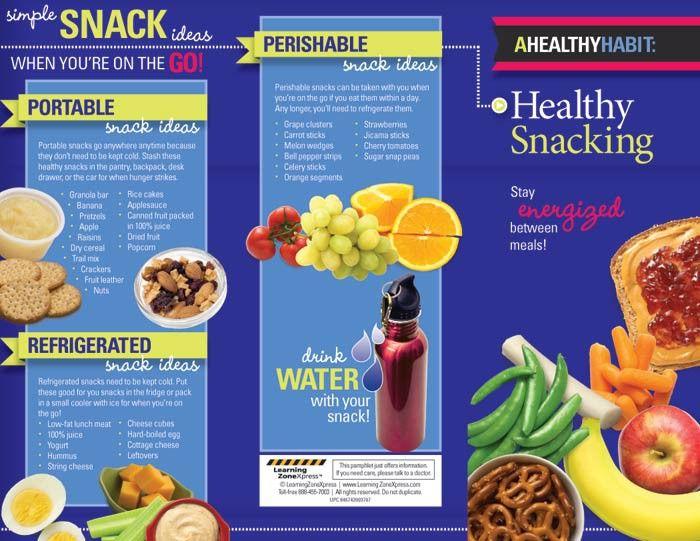 healthy snacking tri fold brochures dietician brochures