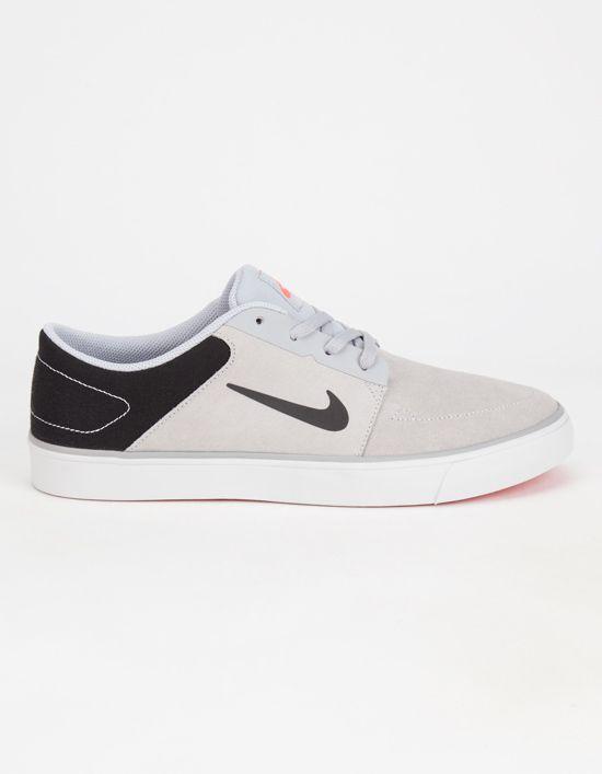 Nike Sb Portmore Premium Mens Shoes Black/Grey In Sizes