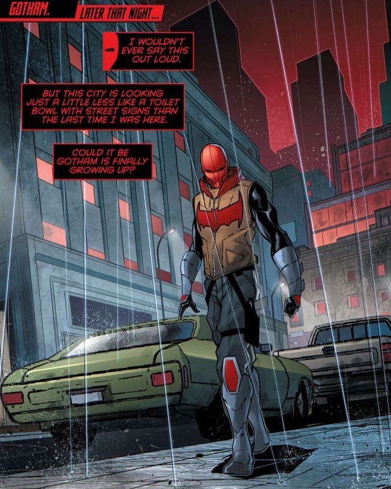Not the biggest fan of this suit, but Red Hood is Red Hood ...
