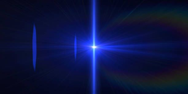 abstract background blue laser futuristic neon lights
