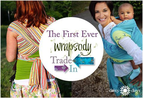 To celebrate their 10TH BIRTHDAY, @Wrapsodybaby is hosting a wrap trade-in event. Send it your OLD Wrapsody wrap and get 25% off a NEW wrap! SWEET DEAL! #babywearing #carrythem