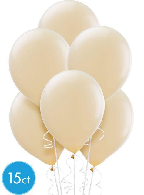 Vanilla Cream Latex Balloons 12in 15ct