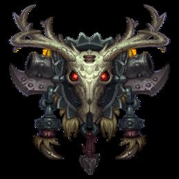 Icon Ilustracion De Calavera World Of Warcraft Simbolos Druidas
