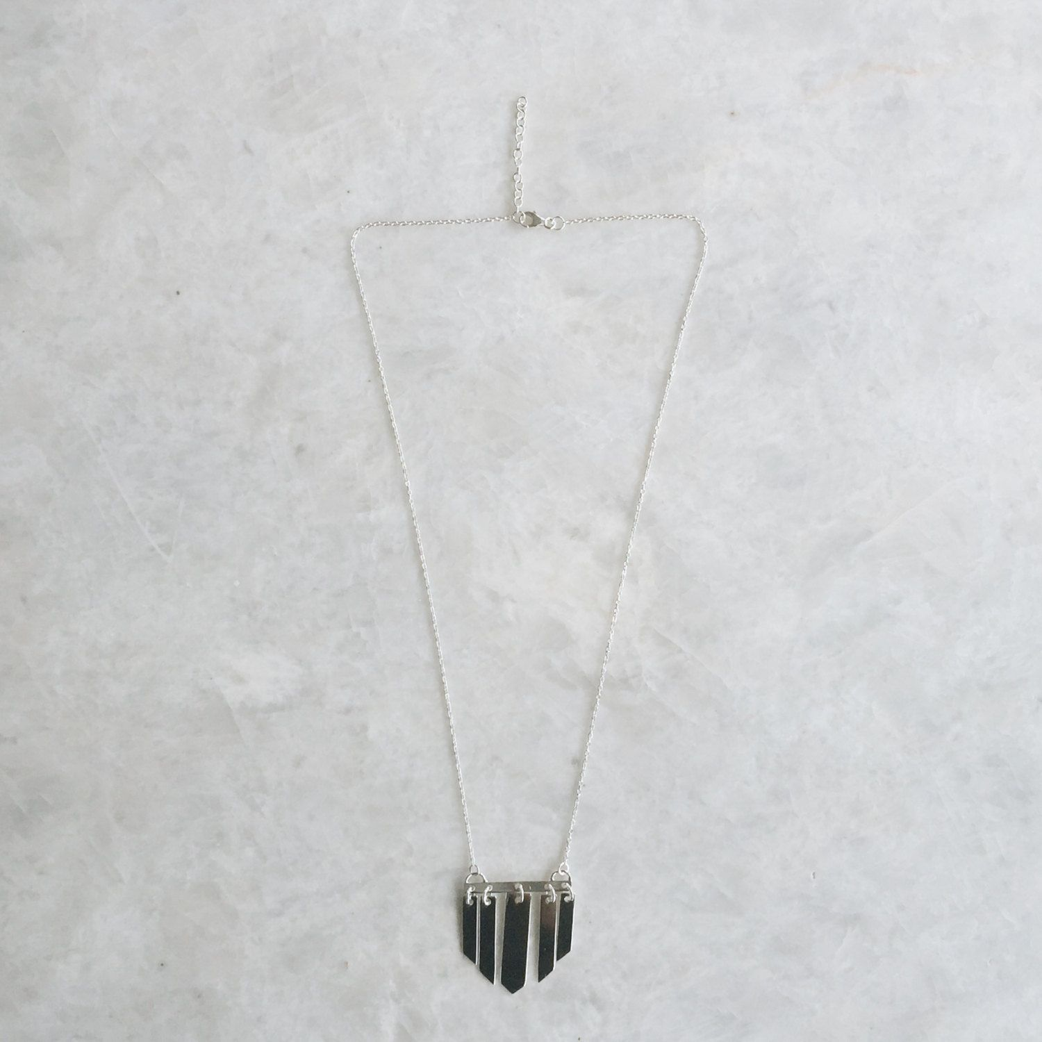 Sterling silver chandelier necklace, Silver minimal necklace, Chandelier necklace (CH72) by SilverCartel on Etsy