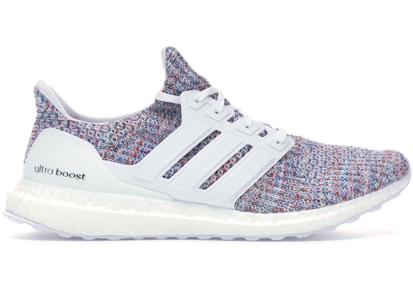 Adidas Ultra Boost 4 0 White Multi Color 2 In 2020 Adidas Ultra Boost Women Adidas Ultra Boost Adidas Women