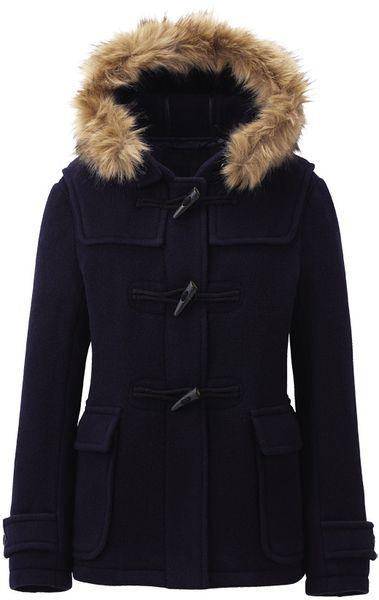 46675817be5e Women Wool Blended Short Duffle Coat - Lyst | Men's fashion pics ...