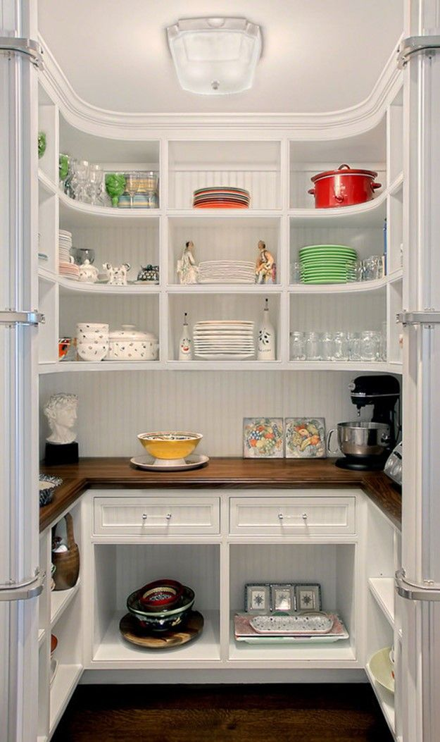 Similar Set Up To Our Pantry This Is What White Looks Like And I Love It With The Dark Wood