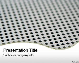 Aluminium Holes Powerpoint Template Free Powerpoint Templates
