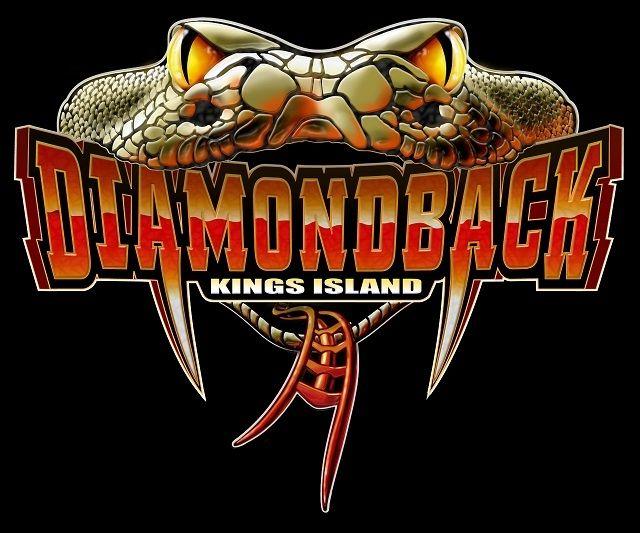 diamondback roller coaster logo #kingsisland