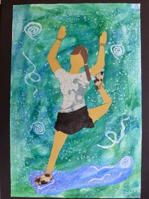 The Calvert Canvas: Adventures in Middle School Art! Movement in art - mixed media