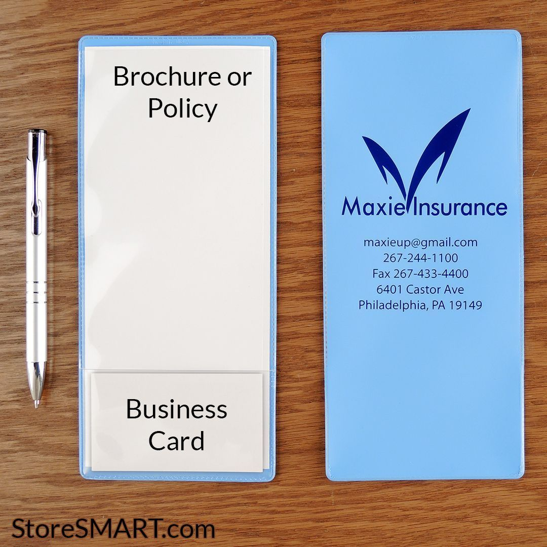 Insurance Policy Holder One Pocket W Business Card Pocket