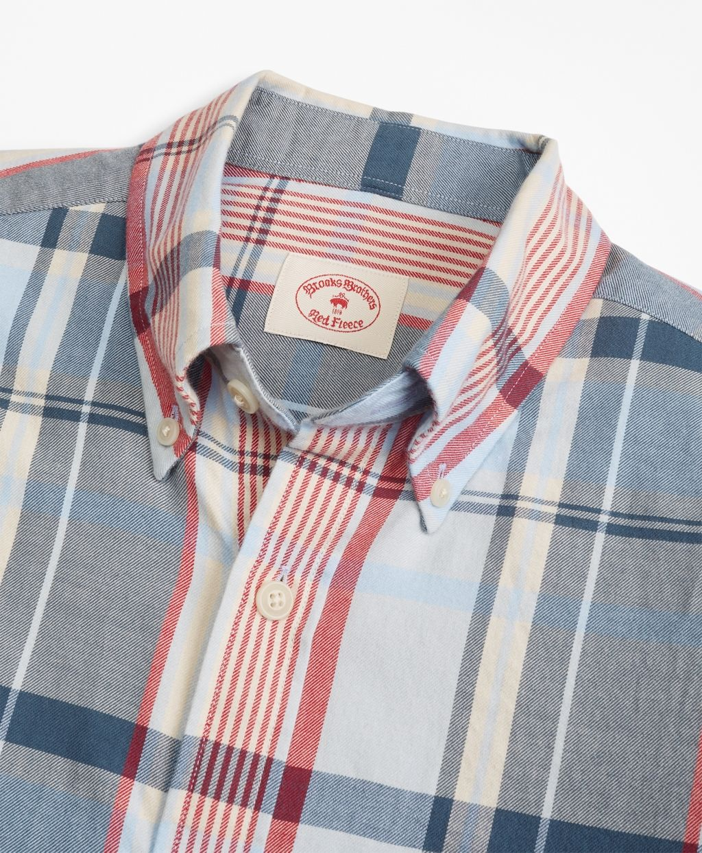38ac26c2ed1 The perfect transitional sport shirt for Fall. - Red Fleece Plaid Summer  Twill Sport Shirt