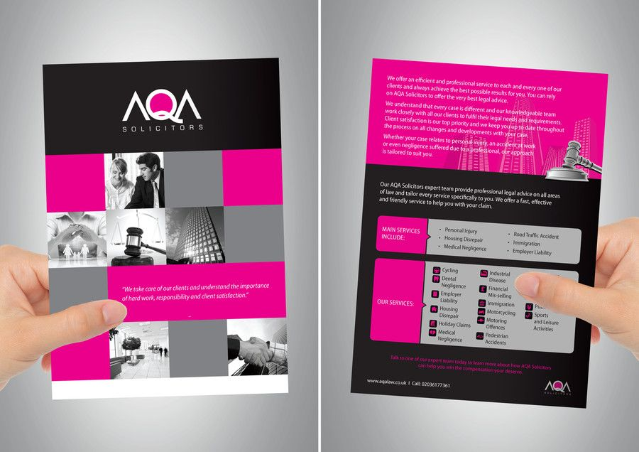 Design an EYE CATCHING Flyer for a law firm Freelancer Inner - law firm brochure