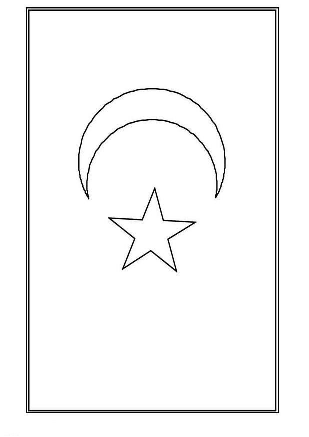 kleurplaat vlag marokko