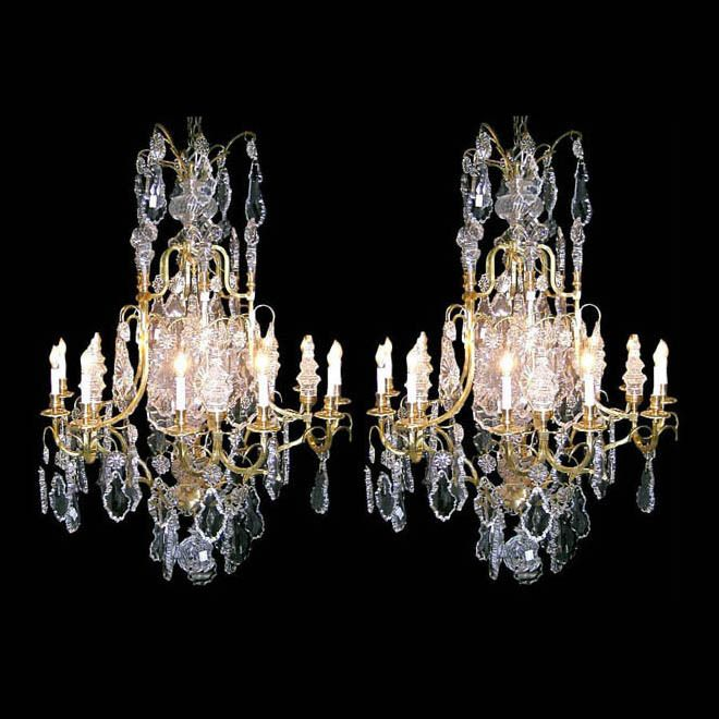 5572 pair of fabulous bronze crystal antique chandeliers www 5572 pair of fabulous bronze crystal antique chandeliers aloadofball Images
