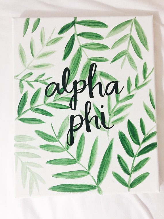 CUSTOM greek letter text avocado canvas, sorority canvas, Greek canvas, big little, dorm decor, big little week, alpha, university, college #biglittlecanvas