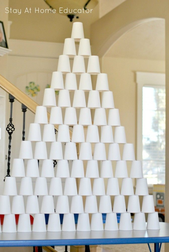Paper Cup Pyramids Around The World Theme Preschool