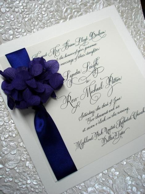 Invitación Azul Con Blanco Muy Elegante Y Sencilla