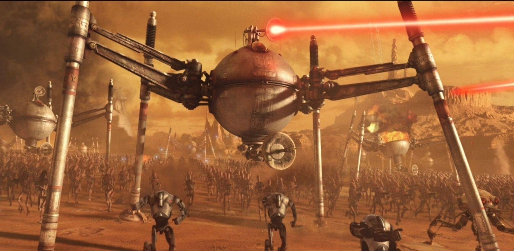 Star Wars Wallpaper Geonosis Battle Star Wars Episode Ii Star Wars Episodes Star Wars Droids
