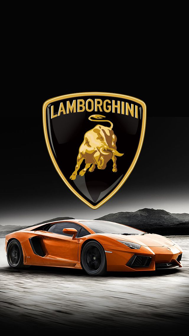 Lamborghini Logo Black Background Android Wallpaper Free Download
