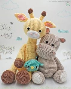 Amigurumi Pattern: Alfa Giraffe