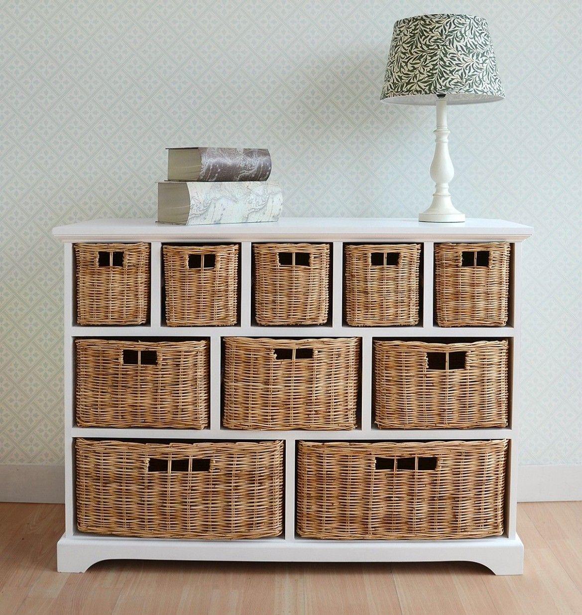 Bedroom Wicker Storage Di 2020 Keranjang Penyimpanan Ide Penyimpanan Minimalis