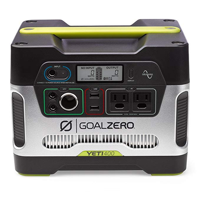 Amazon Com Goal Zero Yeti 400 Portable Power Station 400wh Battery Powered Generator Alternative With 12v In 2020 Solar Generator Solar Generators Best Solar Panels