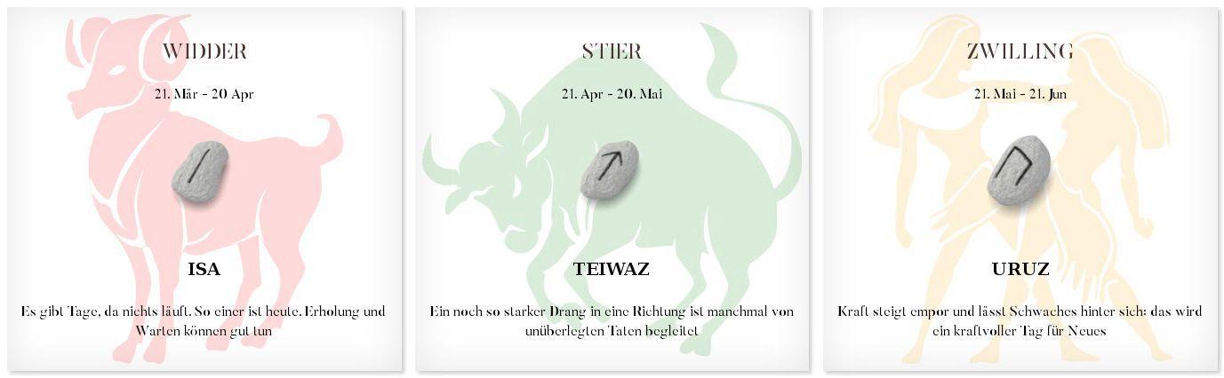 Runen Tageshoroskop 16.9.2016 #Sternzeichen #Runen #Horoskope #widder #stier #zwilling
