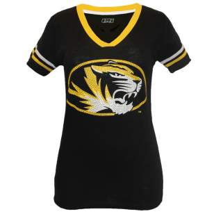 "Missouri Tigers ""Rhine & Shine Football"" Tee #UniversityofMissouri #Mizzou #Tigers #MissouriTigers #Mizzourah"