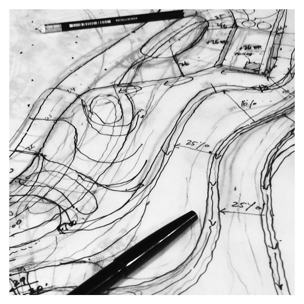 Landscape Architecture Architecture Hand Drawing Concept Design