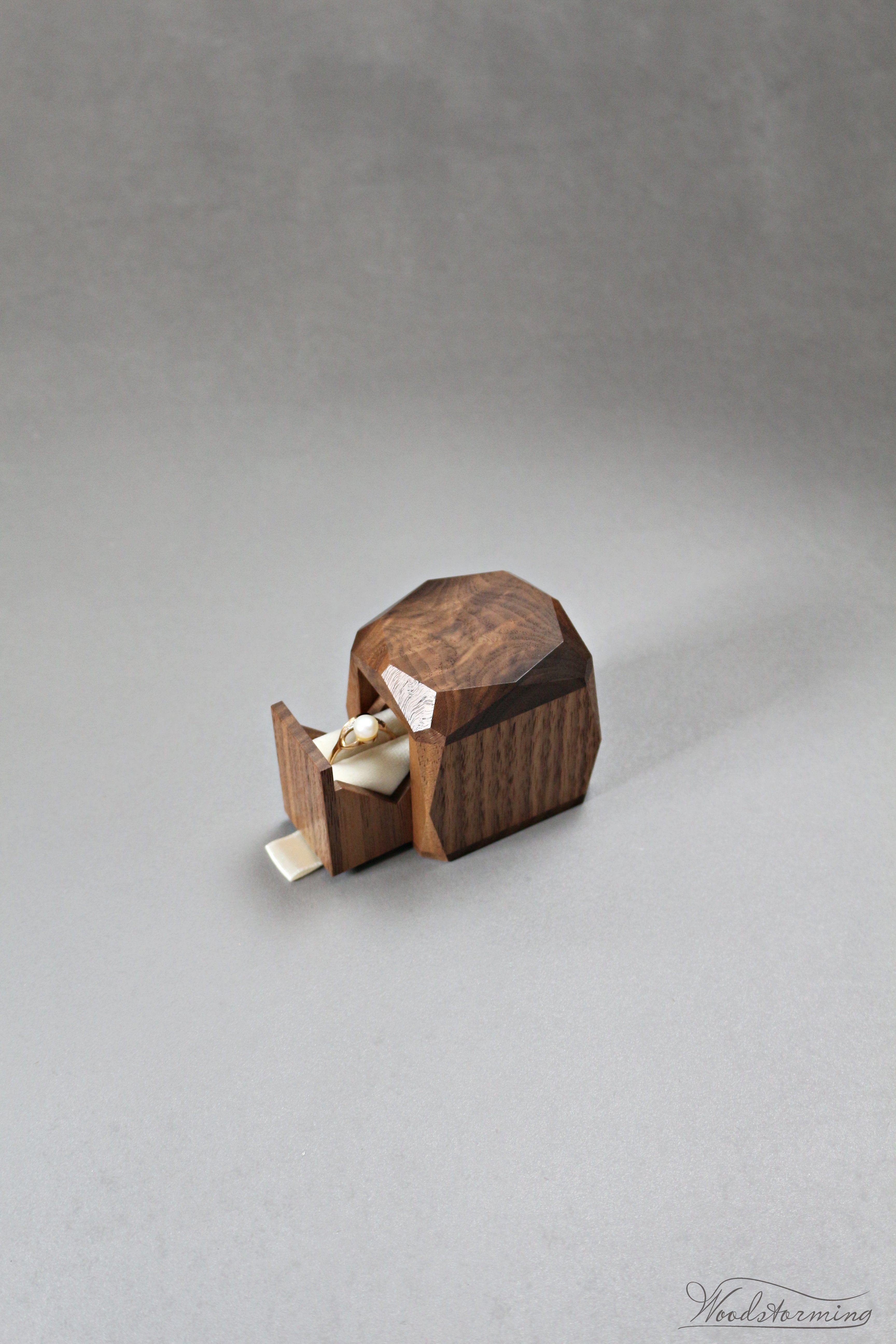 Wonderful Ring Box Wooden Ring Box Wedding Unique Ring Box Wood Ring Box Engagement
