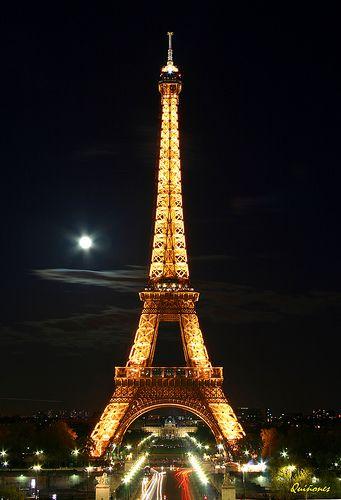 La Luna llena sobre Paris | Arco del triunfo, Fotos bonitas ...