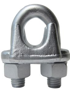 Galvanized Drop Forged Wire Rope Clips Drop Forged Stainless Steel Wire Hot Dip