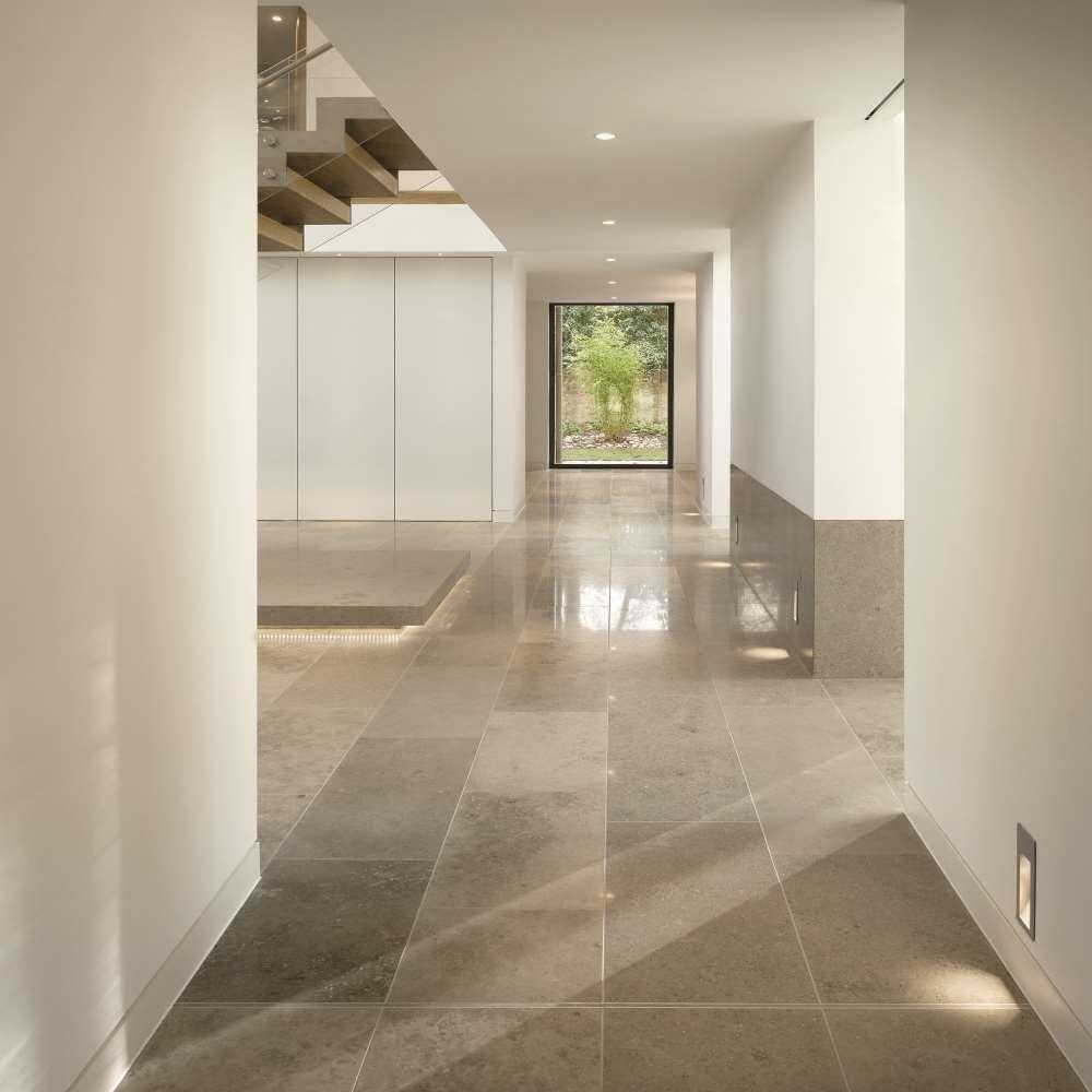 Jura Grey Honed Limestone Floor Fliesenboden Wohnen