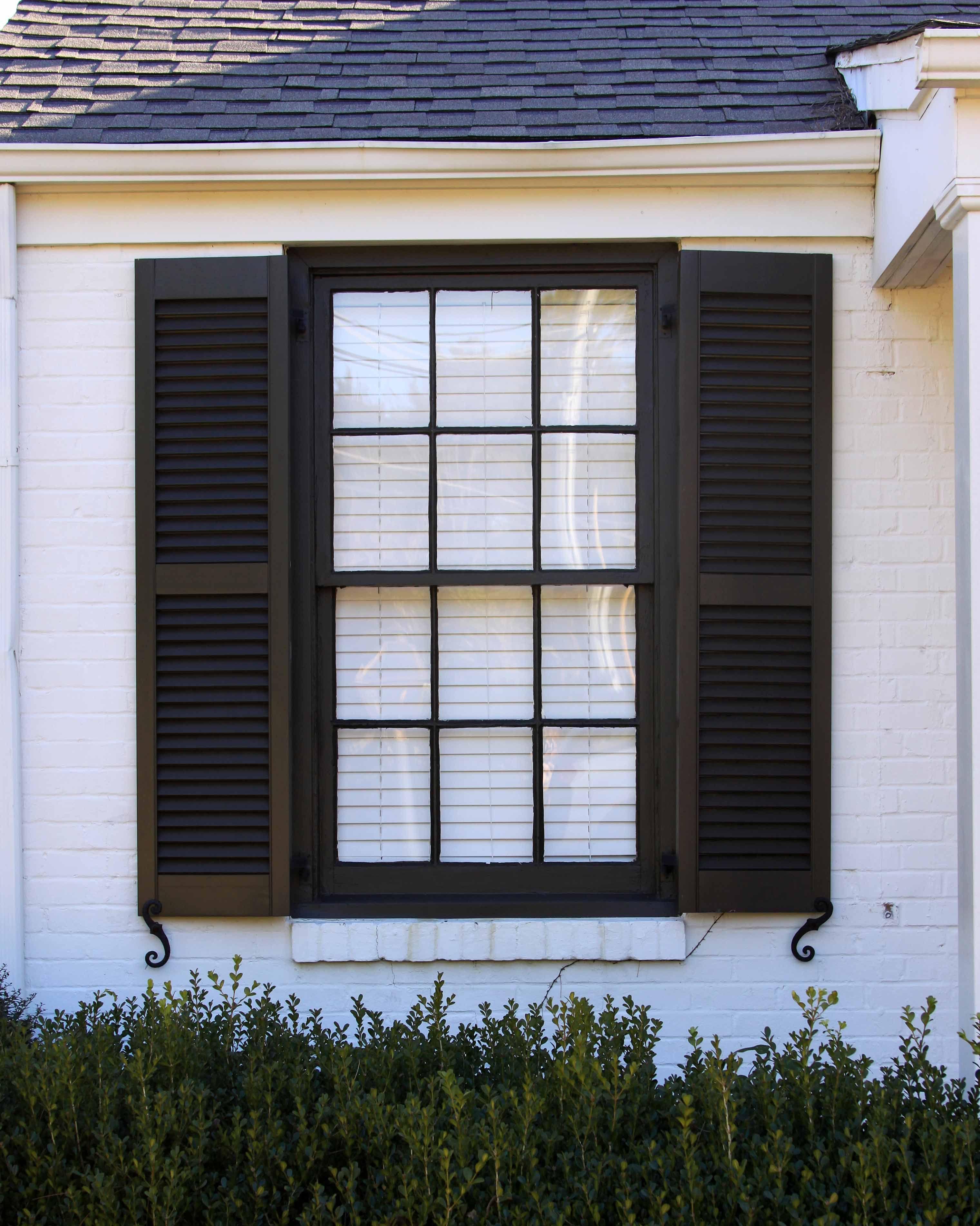 Exterior wood louvered shutter window shutters exterior