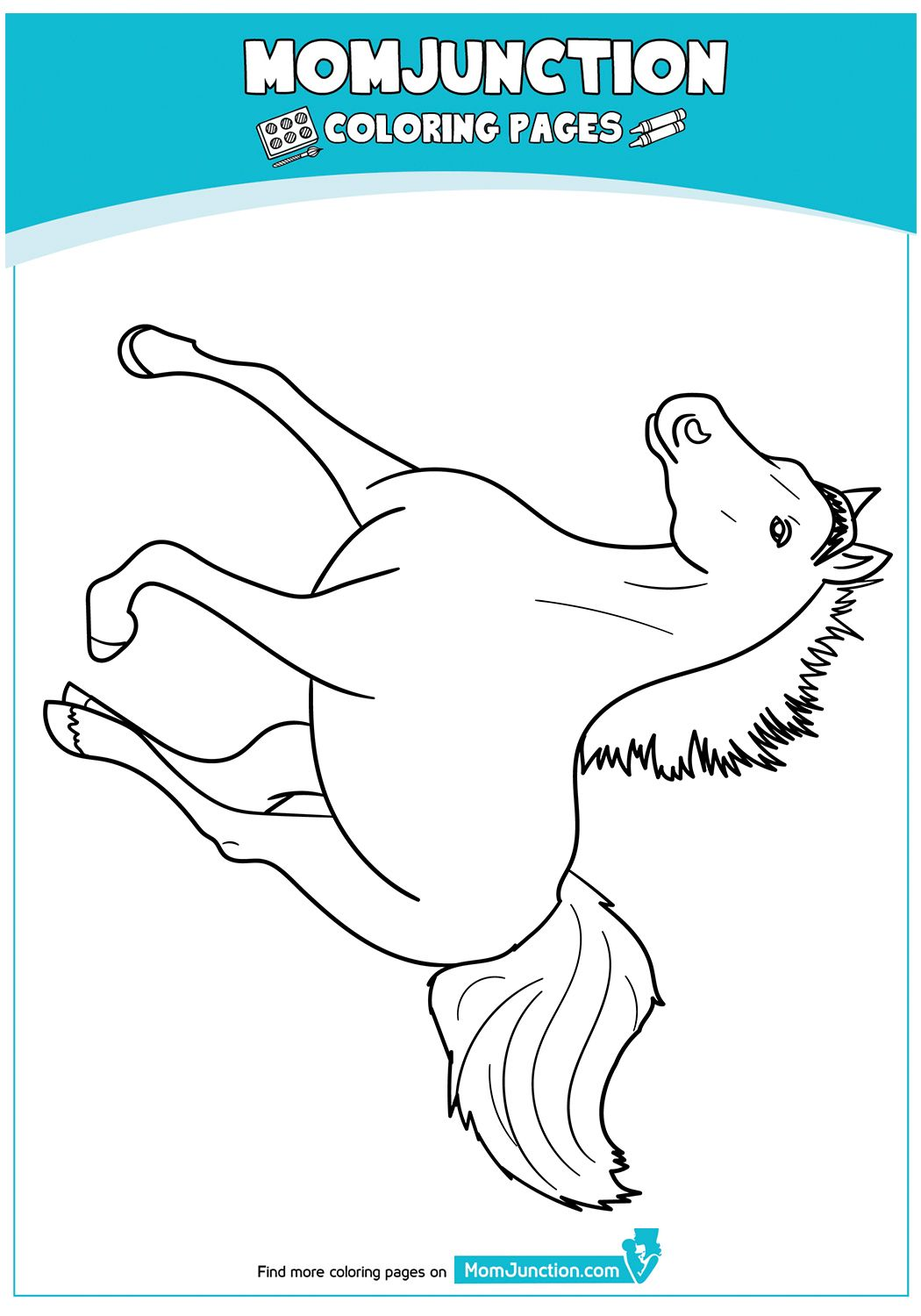 The Momma Horse With Her Foal Coloring Page In 2020 Coloring Pages Animal Coloring Pages Horse Art Drawing