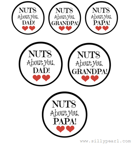 Fathers day free printable nuts about you jar tags free fathers day free printable jar gift tags large ones fit negle Gallery