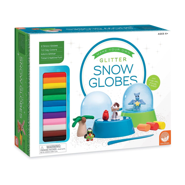 MindWare Make Your Own Glitter Snow Globes Kit Snow