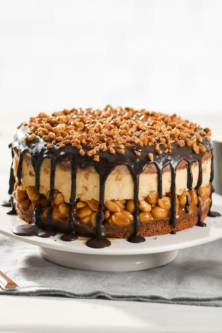 Erdnuss-Karamell-Torte - Rezept von Backen.de