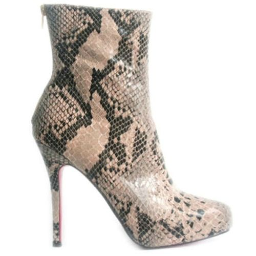 Christian Louboutin Alta Arielle A Talon Python Short boots christian louboutin shoes sale christian louboutin outletlouboutin shoes sale In Stock