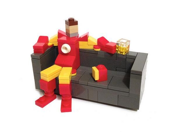 Fun LEGO Images Of Superheroes Portrayed As 'Couch Potatoes' - DesignTAXI.com