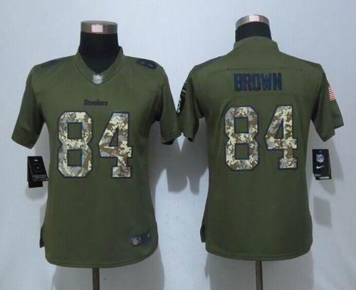 online store afaef e42a2 Women Nike Pittsburgh Steelers #84 Antonio Brown green ...