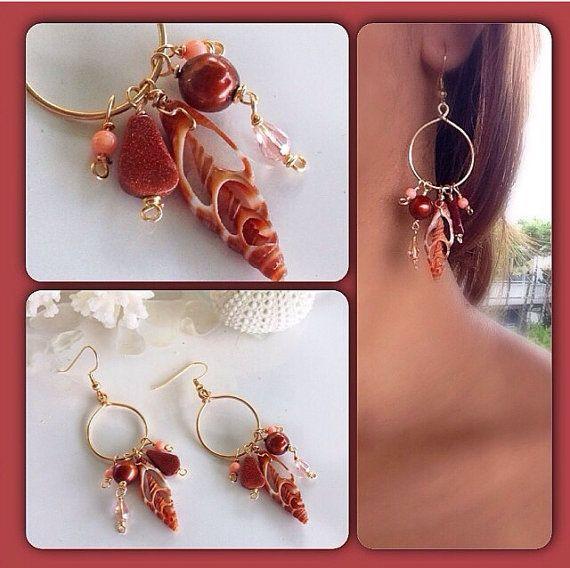 Mocha Blend: Hawaiian Fashion Shell Earrings by TidalTrendz