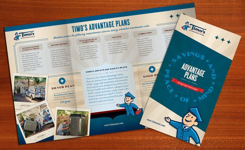 Print Collateral Portfolio Heating And Air Conditioning Hvac