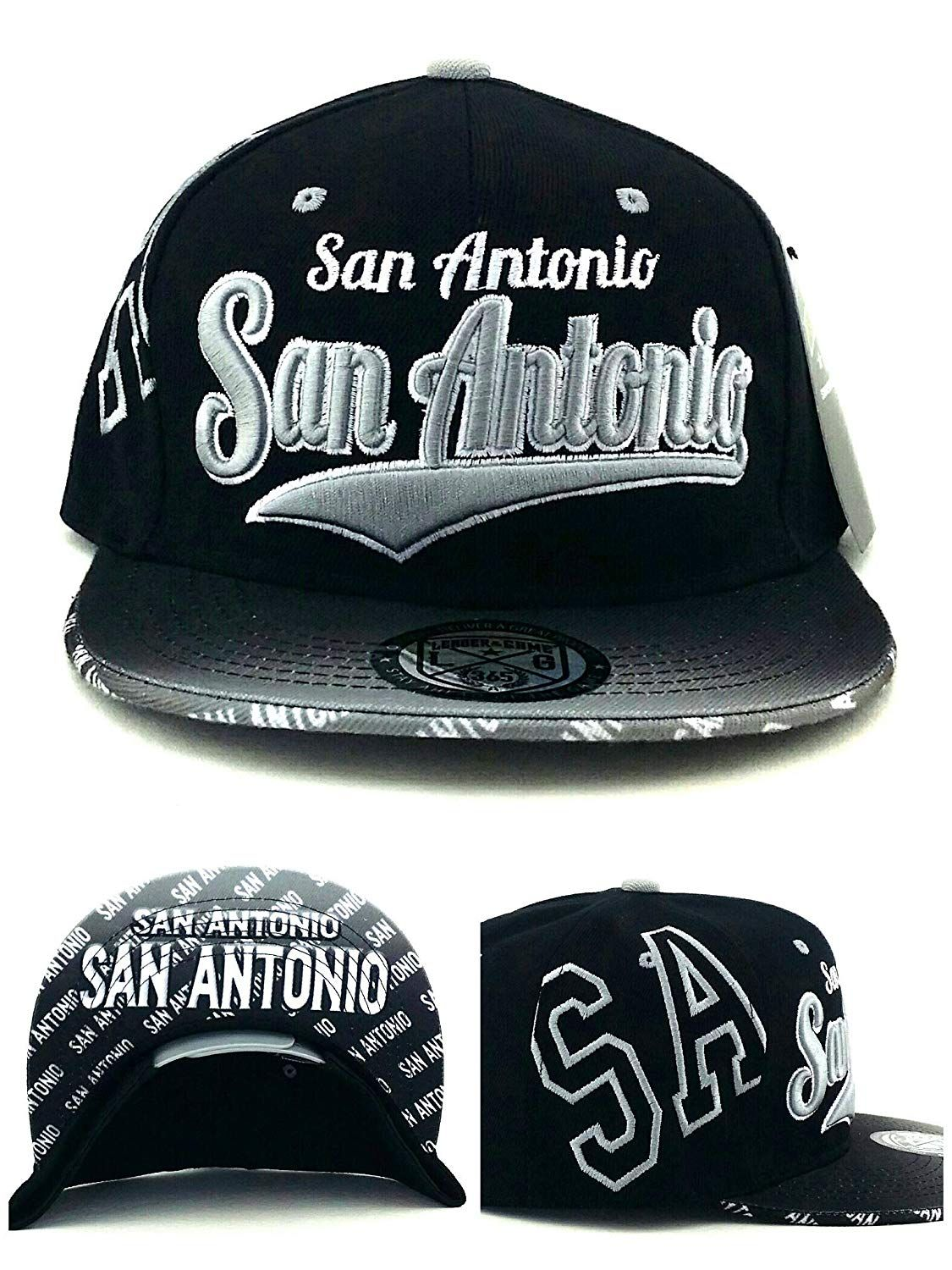 66891b247f6fd9 San Antonio New Leader Flash Fade Spurs Colors Black Gray Era Snapback Hat,  $17.99