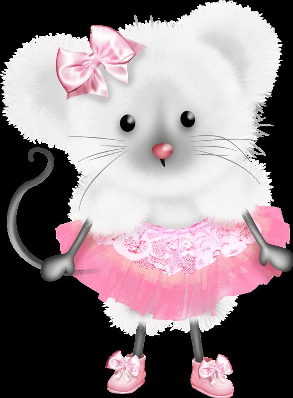 Открытка мышка девочка, утро хорошего дня