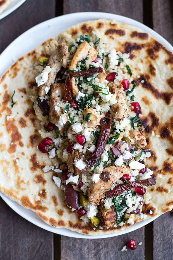 Middle Eastern Chicken And Couscous Wraps With Goat Cheese Recipe
